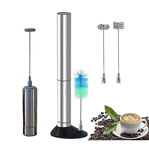 WPHGS Mildeo manual Fretro de mano Leche de mano Frother Café eléctrico Fabricante de espuma Cremoso Leche de espuma Café Leche Jarras Jarras Frotura de leche de la batería para el café