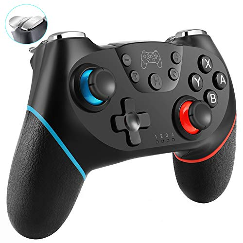 SHANGCAI Wireless Controller for Nintendo Switch Pro, Remote Controllers Joypad Gamepad Replacement Joystick for Switch Console with Dual Shock Gyro Axis Function