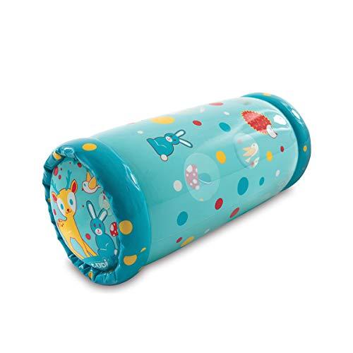 Ludi - Baby Roller Lapin 40 x 25 x 20 cm dès 6 Mois. Rouleau Gonflable Qui développe la motricité des Enfants. 6 balles sonores à Faire circuler - 30005