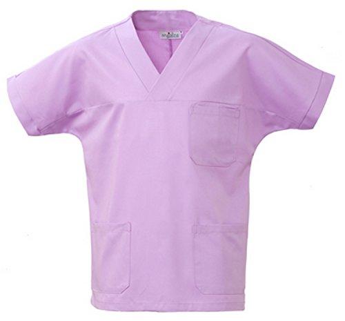 Angiolina Camice Casacca Uomo Donna A V per Medico Infermiere Lilla Glicine MS1401 (XXL)