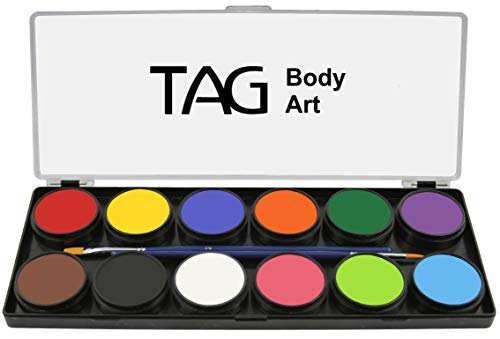 TAG Face & Body Paint - Regular Palette 12 x 10g