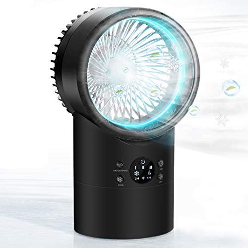 Portable Air Conditioner Fan, KUUOTE Mini Evaporative Cooler with 7 Colors Night...
