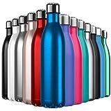 BICASLOVE Botella de Agua de Acero Inoxidable,Diseño de Pared Doble,Boca EstáNdar,para...