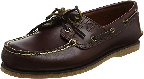 Timberland Men's Classic 2-Eye Boat Shoe, Rootbeer/Brown, 9.5 M