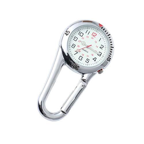 ULTECHNOVO - Clip para reloj deportivo, mochila con mosquetón, reloj de bolsillo con clip para senderismo, escalada, viaje