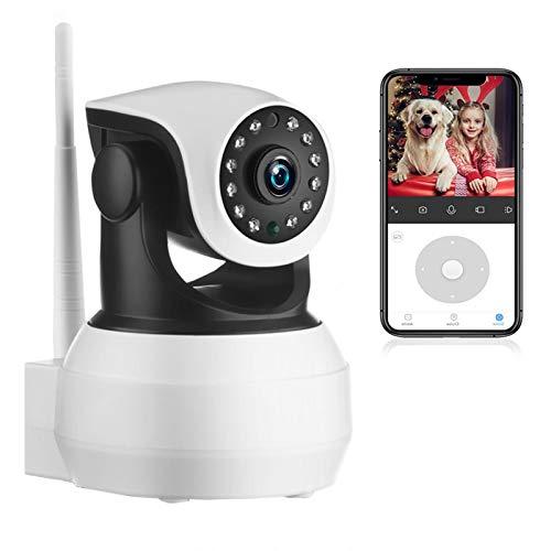 AINSS Cámara De Vigilancia Interior WiFi,1080P HD WiFi PTZ IP Cámara,Visión Nocturna,Audio Bidireccional,Detección De Movimiento, para Ancianos/Bebés/Mascotas 【WiFi-Cámara+32G】