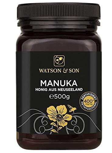 Miel de Manuka MGO 400+ 500g de Watson & Son | Qualité Premium certifiée de Nouvelle-Zélande
