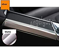 ステンレス鋼車のセンターコンソールサイドトリムフレームボルボ xc60 S60L V60 S60-Carbon fiber