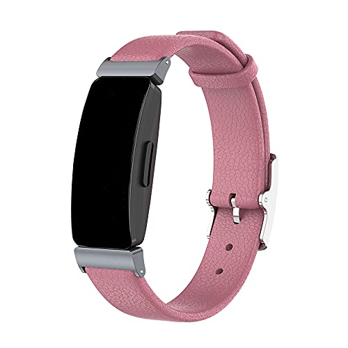Compatibile con Fitbit Inspire/Inspire HR Bands, braccialetto in vera pelle per Fitbit Inspire Fitness Tracker/Inspire HR frequenza cardiaca e fitness tracker,