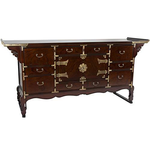 Oriental Furniture Korean Tansu Style 13 Drawer Buffet Server