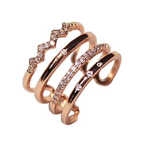 Unique Clover Diamond Ring Mesdames Accessoires Concise Fashion Style sauvage