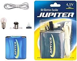 Jupiter Kit Eléctrico Escolar,Set Colegio Electricidad para Niños, Kit de Experimentación Eléctrica Básica para Trabajos...