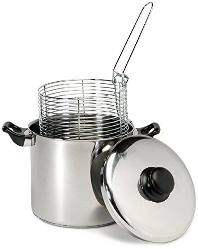Excelsteel 6 Quart Stainless Steel Stove Top Deep Fryer (Renewed)