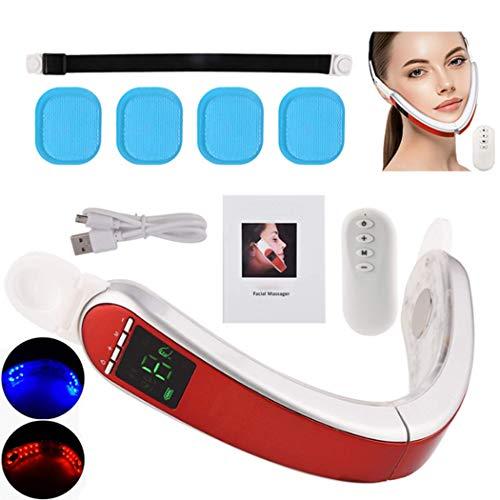 Eléctrica V-Shaping cara masajeador inteligente de rostros-elevación del instrumento, reafirmante de la piel de fotones recargable USB de elevación dispositivo delgado Papada adelgaza la magia