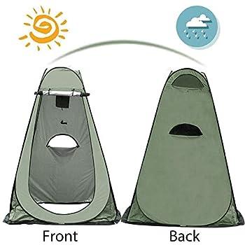 Tente de Douche Pop Up, Portable Tente de Douche Camping ?Tente d'extérieur Tente Toilette Cabinet de Changement Camping Abri de Plein ?Air Vestiaire - 47x47x75 inch