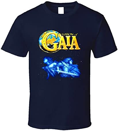 Illusions of Gaia SNES Video Game T Shirt XL Navy product image