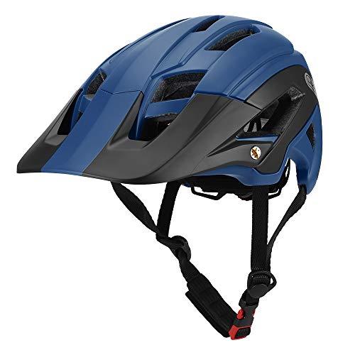 Lixada Casco de Ciclismo Ligero con Visera Desmontable 56-62 cm 16 Respiraderos Casco Protector de Seguridad para Ciclismo Bicicleta MTB