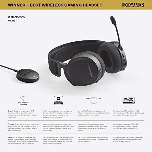 SteelSeries Arctis 7 Auriculares De Juego, Inalámbricos Sin Pérdidas, Dts Headphone: X...