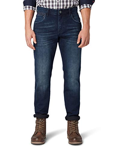TOM TAILOR Herren Jeanshosen Josh Regular Slim Jeans Blue Black Denim,30/34,10170,6000