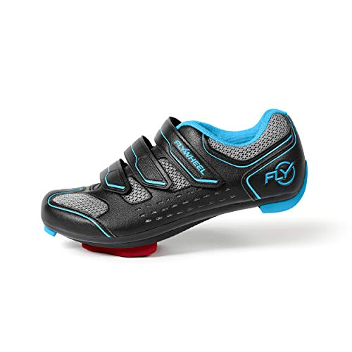 Flywheel Sports Indoor Cycling Shoes with LOOK Delta Cleats, Peloton Compatible, Womens and Mens, EU Size 44