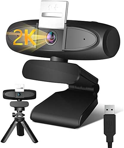 Webcam with Microphone 2K Streaming USB Computer Camera with 4X Zoom Privacy Cover Pan Tilt product image