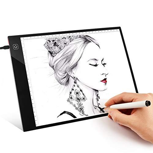 sikiwind LED Leuchttisch Dimmbare Helligkeit A4 Ultra-Dünne Tragbare Leuchtkasten mit USB-Stromkabel für 5D DIY Diamond Painting - Skizzieren - Künstler Zeichnung und Animation usw