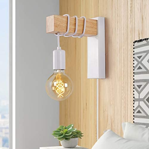 VANSIN LED Wall Sconce E26 Wall Lamp for Bedroom Bedside Reading Sconces Industrial Wall Mounted product image