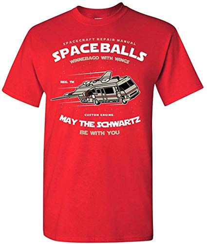 Spaceballs Winnebago reparatiehandleiding grappig T-shirt volwassenen popcultuur grafisch thee nerdy geeky apparaat