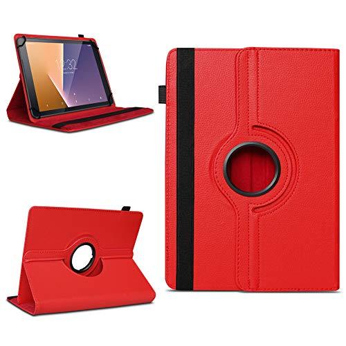 Tasche für Vodafone Tab Prime 7 Tablet Hülle Schutzhülle Hülle 360° Drehbar Cover, Farben:Rot