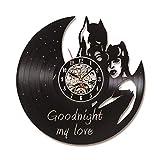 RelaxLife Relojes De Pared Reloj Negro Hueco Reloj De Registro De Vinilo Reloj...