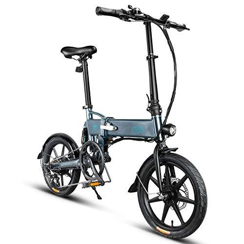 KaariFirefly Bici elettrica Pieghevole per Adulti, Bici elettrica Pieghevole a velocità variabile con Telaio in Lega di magnesio Leggero con, Motore da 250 W, Batteria da 36 V 7,8 Ah, 25 km/h Grigio