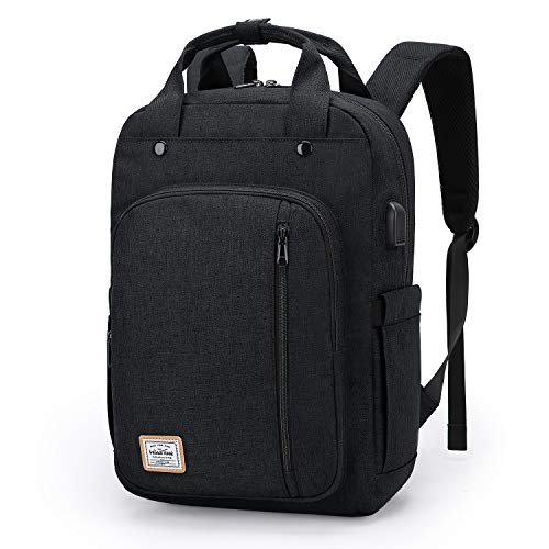 WindTook Backpack for 15-Inch Laptop with USB Charging Port Women or Mens Rucksack Casual Daypack for Work, School, Travel, Unisex, Black