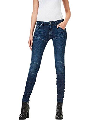 G-Star Damen Jeans 5620 G-Star Elwood STAQ 3D Mid Waist - Blau - 3D Dark Aged, Größe:W 30 L 32;Farbe:3D Dark Aged (2967)