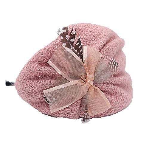 Diademas para niños con lazo de moda, diademas para niñas, sombreros para niños (color: morado claro)