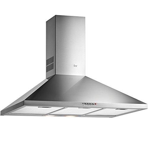 Teka DBP 90 PR 613 m³/h De techo Acero inoxidable D - Campana (613 m³/h, Canalizado/Recirculación, 68 dB, 55 dB, De techo, Acero inoxidable)