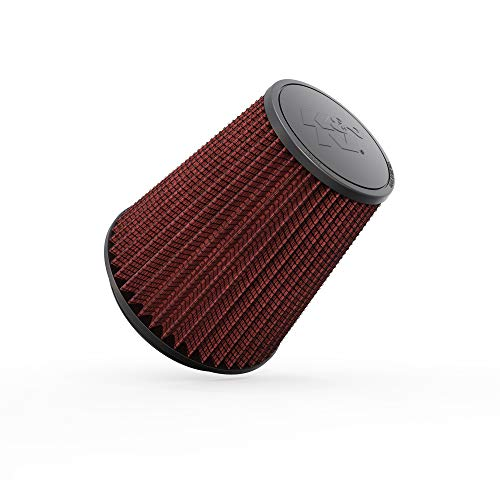 K&N Universal Clamp-On Air Filter: High Performance, Premium, Washable, Replacement Filter: Flange Diameter: 6 In, Filter Height: 8 In, Flange Length: 0.625 In, Shape: Round Tapered, RF-1044