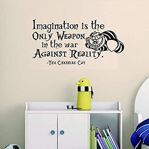 Imagination Is The Only Weapon In The War Against Reality Wallpaper Motto Sticker Decorazioni per la casa