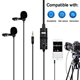 BOYA Professinal Dual Lavalier Microphones, Omnidirectional Condenser Clip-on Lapel Mic for Camera,DSLR,iPhone,Android,Huawei,Sony,Laptop,Guitar, Great