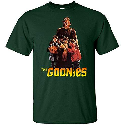 グーニーズ、R.Donner、映画のポスター(1985) Tシャツ(WHITE、KHAKI) S-5XL,グリーンボトル,XL