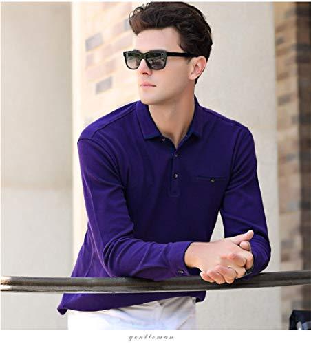 Polo Shirts Manga Larga,Completo Gratis Púrpura Camisa Casual Sudadera, Suéter De Secado Rápido Estiramiento Camiseta Deportiva Ropa Transpirable Suéteres Jersey Chaleco De Moda, Ropa De Trabajo,