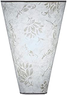 It's Exciting Lighting IEL-2800 Moire Pattern Fabric Shade Sconce, Battery Powered Wall Sconce With No Electrical Outlet Required