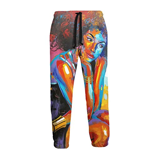 Inaayi Herren Jogginghose King and Queen Painting Schwarz Gr. 31-35, Schwarz