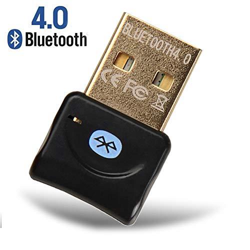 YiYunTE Adaptador Bluetooth 4.0 USB para Ordenador Transmisor Receptor Bluetooth para Auriculares Altavoz Teclado Bluetooth Adaptador USB para PC portatil Compatible con Windows 10 8 7 XP Vista