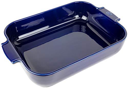 Peugeot Appolia - Fuente rectangular para horno (40 cm, interior de 33 x 25,7 x 7,6 cm), color azul