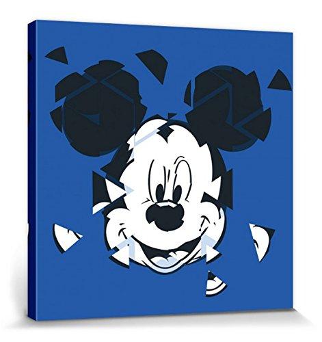 1art1 Micky Maus - Disney Portraitkunst, Zerbrochener Spiegel Bilder Leinwand-Bild Auf Keilrahmen | XXL-Wandbild Poster Kunstdruck Als Leinwandbild 40 x 40 cm