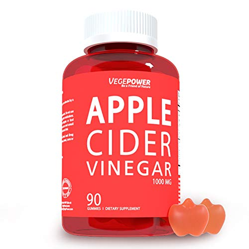 Vegepower Apple Cider Vinegar Gummies with The Mother-Highest Potency 1000 Mg Acv Vitamin Gummy for Weight Control, Boost Metabolism, Immune System-3 Natural Juice w/ Beet Root, Lemon, Pomegranate