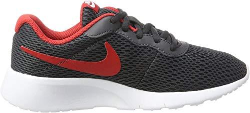 Nike Nike Jungen Tanjun (GS) Zehenkappen, Mehrfarbig (Anthracite/University Red-White), 38.5 EU