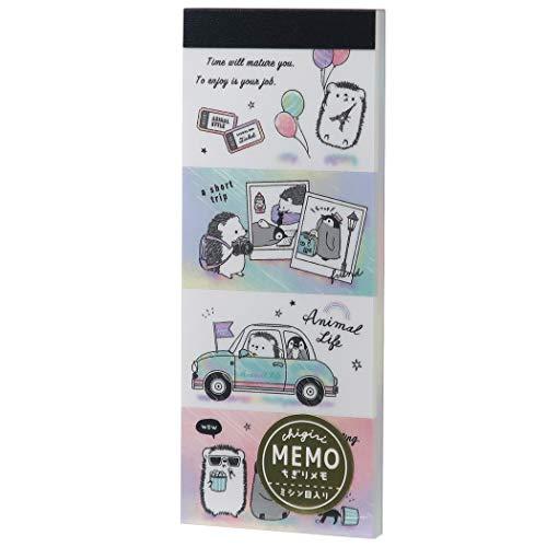 メモ帳[ANIMAL LIFE]ちぎり ロング メモ/ドライブ カミオジャパン 文具 かわいい グッズ 通販