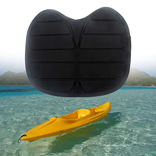UXELY Kayak Seat Cushion, Canoeing Seat, Waterproof Kayak Seat Pad, Detachable Black Kayak Seat Pad Cushion