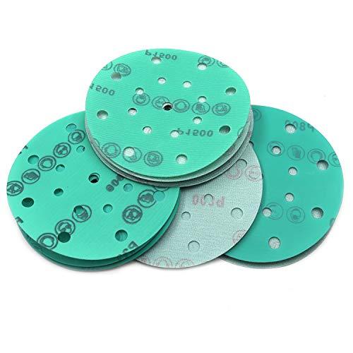 6 Hook and Loop Sanding Disc 30 Pack, 600/800/1200/1500/2000 Grit Assorted...